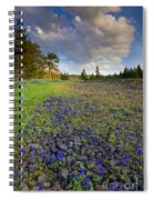 Rocky Prairie Cloud Explosion Spiral Notebook