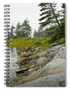 Rocky Shore By The Narrows To Mount Desert Island Spiral Notebook