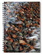 Rocky Shoreline Abstract Spiral Notebook