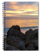 Rocky Shoreline At Sunset Spiral Notebook