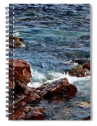 Rocky Shoreline - Coast -  Painterly Effects -  Panorama Spiral Notebook