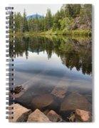 Rocky Shores At Swim Lake Spiral Notebook