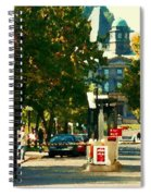 Roddick Gates Painting Mcgill University Art Students Stroll The Grand Montreal Campus C Spandau Spiral Notebook