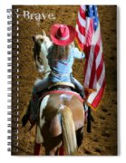Rodeo America - Land Of The Free Spiral Notebook