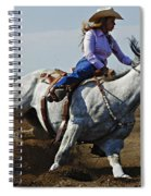 Rodeo Barrel Racer Spiral Notebook