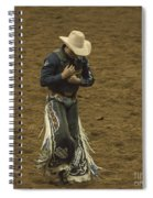 Rodeo Cowboy Dusting Off Spiral Notebook