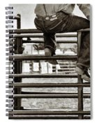 Rodeo Fence Sitters- Sepia Spiral Notebook