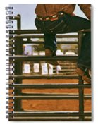 Rodeo Fence Sitters- Warm Toned Spiral Notebook