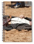 Rodeo Gunslinger Victim Color Spiral Notebook