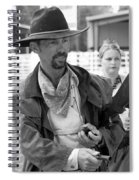 Rodeo Gunslinger With Saloon Girls Bw Spiral Notebook