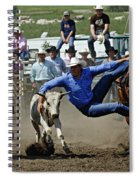 Rodeo Steer Wrestling Spiral Notebook