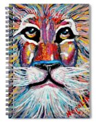 Rodney Abstract Lion Spiral Notebook