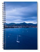 Rodney Bay Morning Blues Spiral Notebook