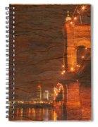 Roebling Bridge Stone N Wood Spiral Notebook