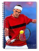 Roger Federer The Swiss Maestro Spiral Notebook