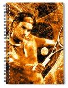 Roger Federer Clay Spiral Notebook