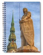 Roland Of Riga Painting Spiral Notebook