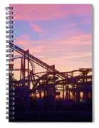 Roller Coaster At The  Nj Shore Spiral Notebook