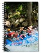 Roller Coaster Of Rafting Spiral Notebook