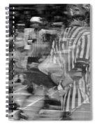 Women's Roller Derby Motion Blur Spiral Notebook