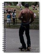 Roller Skating In The Park Spiral Notebook