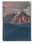 Rolling Hills And Purple Tantalus Peaks Spiral Notebook