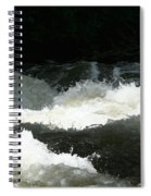 Rolling White Water Spiral Notebook