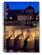 Roman Bridge And Mezquita In Cordoba At Dawn Spiral Notebook