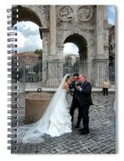 Roman Colosseum Bride And Groom Spiral Notebook