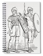 Roman Infantry Soldiers, After Figures On Trajans Column.  From The Imperial Bible Dictionary Spiral Notebook