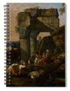 Roman Landscape With Cattle And Shepherds Spiral Notebook
