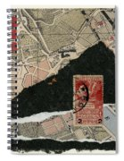 Roman Map Collage Spiral Notebook