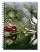 Romanian Glacier Lake Spiral Notebook