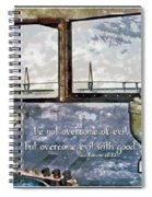 Romans 12 21 Spiral Notebook