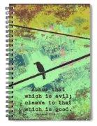 Romans 12 9 Spiral Notebook
