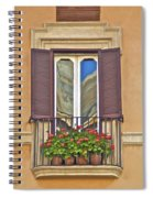 Romantic Balcony With Red Flowers In Rome Spiral Notebook