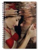 Romantic Couple Underwater Spiral Notebook