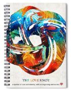 Romantic Love Art - The Love Knot - By Sharon Cummings Spiral Notebook