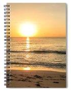 Romantic Ocean Swim At Sunrise Spiral Notebook
