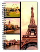 Romantic Paris Sunset Collage Spiral Notebook