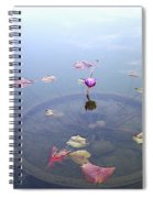 Romantic Pond Spiral Notebook