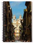 Rome, Italy. View Along Via Dei Spiral Notebook