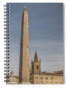 Rome Piazza Del Popolo 01 Spiral Notebook