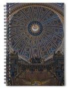 Rome Saint Peters Basilica Interior 01 Spiral Notebook