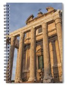 Rome Temple Of Antoninus And Faustina 01 Spiral Notebook