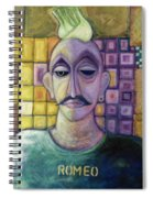 Romeo, 1970 Acrylic & Metal Leaf On Canvas Spiral Notebook