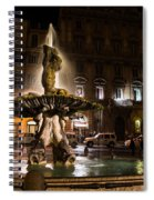 Rome's Fabulous Fountains - Fontana Del Tritone Spiral Notebook