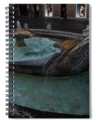Rome's Fabulous Fountains - Fontana Della Barcaccia - Spanish Steps  Spiral Notebook