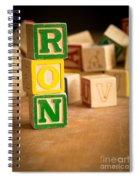 Ron - Alphabet Blocks Spiral Notebook
