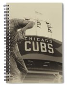Ron Santo Chicago Cub Statue In Heirloom Finish Spiral Notebook